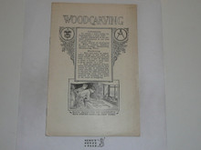 Woodcarving Merit Badge Pamphlet, 1924 Printing