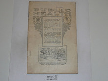 Public Health Merit Badge Pamphlet, 1924 Printing