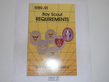 1989-1991 Boy Scout Requirements Book, 9-89 Printing