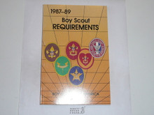 1987-1989 Boy Scout Requirements Book, 6-88 Printing