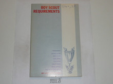 1970 Boy Scout Requirements Book, 9-70 Printing
