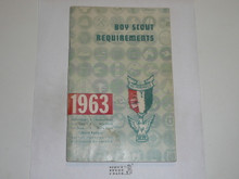 1963 Boy Scout Requirements Book, 9-62 Printing