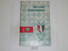 1961 Boy Scout Requirements Book, 8-60 Printing