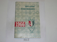 1966 Boy Scout Requirements Book, 11-65 Printing