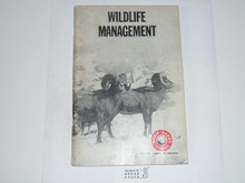 Wildlife Management Merit Badge Pamphlet, 3-68 Printing