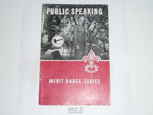 Public Speaking  Merit Badge Pamphlet, 9-56 Printing