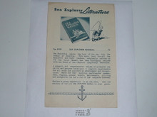 1950's Sea Explorer Literature Flier