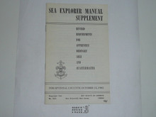 1964 Sea Explorer Manual Supplement, 5-64 Printing