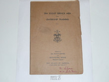 1930's Sea Scout Service Aids For Leadership Training #15
