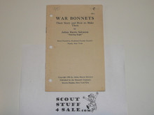 1926 War Bonnets-Their Story and How to Make Them, Boycraft #BS-1