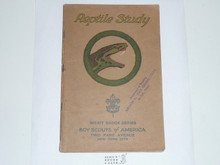 Reptile Study Merit Badge Pamphlet , 1928 Printing