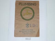 Plumbing Merit Badge Pamphlet , 1928 Printing