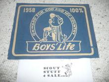 1958 100% Boys' Life Felt Pennant