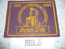 1959 100% Boys' Life Felt Pennant
