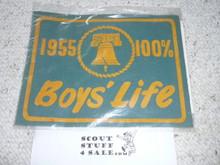 1955 100% Boys' Life Felt Pennant