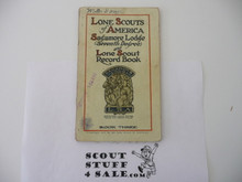 1918 Lone Scout Seventh Degree and Record Book