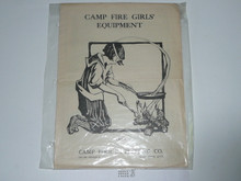 1924 Campfire Girls Equipment Catalog
