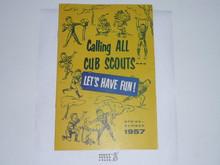 1957 Spring/Summer Cub Scout Equipment Catalog 12389