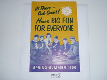 1956 Spring/Summer Cub Scout Equipment Catalog