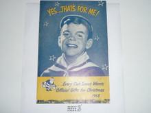 1953 Cub Scout Christmas Equipment Catalog #2