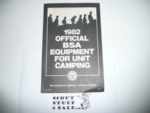 1982 Equipment Catalog For Unit Camping