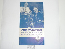 1958 Cub Scouting The Program for Boys 8, 9, 10 Years of Age, 5-58 Printing
