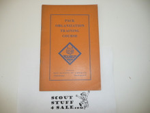 Early 1930's Pack Organization Training Course Manual