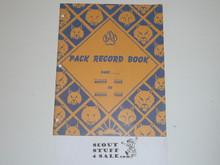 1954 Pack Record Book, 7-63 Printing
