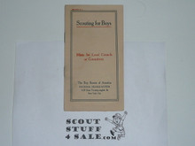 1910 Scouting For Boys Hints for Local Councils or Committees Bulletin #2, Ultra Rare BSA Formation Booklet, 4 Bulletins in Set