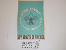 1970 Charter and Bylaws of the Boy Scouts of America, 3-70 Printing