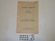 1927 Canoe Making, Boycraft Leaflet #BS-4