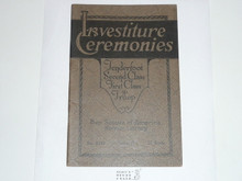 Investiture Ceremonies, 1929 Printing, Boy Scout Service Library