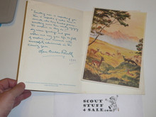 Notecard With Color Print From Baden Powell, 1942