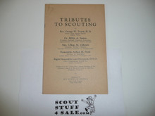 Tributes to Scouting, 1930's, Boy Scout Service Library, Printed Without A Cover