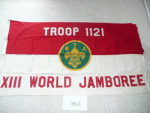 1971 World Jamboree Boy Scouts of America Troop #1121 Flag