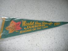1955 World Jamboree Jamboree Felt Pennant