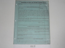 1952 Air Scout Flight Clearance Record, 1-52 Printing