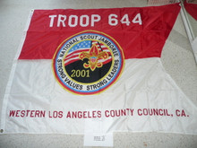 2001 National Jamboree Troop 644, of the Western Los Angeles County Council, Troop Flag