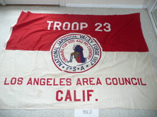 1957 National Jamboree Troop 23, of the Los Angeles Area Council, Troop Flag