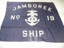 1937 National Jamboree Ship #19 Flag, a few small holes as shown in picture