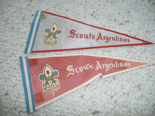Old Argentinian Boy Scout Pennants
