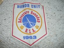 1963 Adventure Round-up Honor Unit Felt Pennant