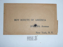 Teens Boy Scouts of America 200 5th Avenue Return Envelope