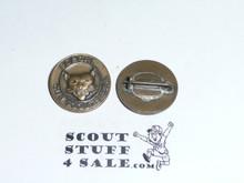 """Bobcat Round """"BOBCAT"""" Cub Scout Rank Pin, Crude clasp"""