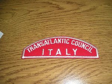 Transatlantic Council ITALY Red/White Council Strip
