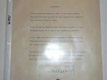 1927 Typed Statement Signed by Dan Beard