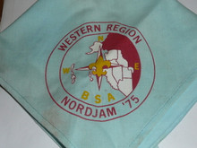 1975 Boy Scout World Jamboree Western Region Contingent Neckerchief