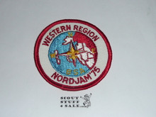 1975 Boy Scout World Jamboree Western Region Contingent Patch