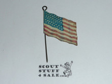 1920 Boy Scout World Jamboree USA Flag Stickpin