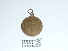 "1937 Boy Scout World Jamboree Medal (not presented with ribbon.  Sold as presented) ""For Help BP Scouts""  Official Item"